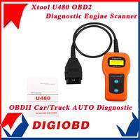 2 PCS 100% Original U480 AUTO Diagnostic Engine Scanner OBD2 OBDII Car/Truck Fault Code Reader Free Shipping