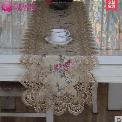 product European rural cloth art table flag High-grade fashion lace table flag tea table cover table runner