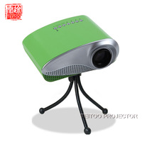 New Green Pico Mini LED Portable Projector,for Home Cinema, Video Games, Support AV TV VGA HDMI SD USB, for XBOX, PS3, etc