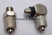 free shipping 10pcs/lots New SMC Type M-5HL-4 pneumatic air Fitting, elbow hose nipple, for 4mm tube M5 Thread(China (Mainland))