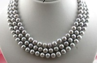 "50"" HUGE AAA 9-10MM PERFECT ROUND SOUTH SEA GENUINE GRAY PEARL NECKLACE 14K GOLD"