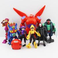 8pcs/lot Big Hero 6 PVC figures Fred Tomago Honey lemon Wasabi friends Action Figure doll toys Free Shipping