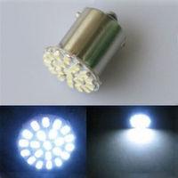 2Pcs White 1157 BA15S 22SMD LED Car Light bulbs Turn Signal Backup Light Lamp Car External Light