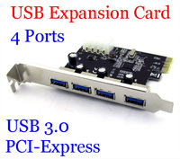 New 4 Ports USB 3.0 To PCI-E Card PCI Express Expansion Card Adapter VIA 5Gbps for Desktop hot sale
