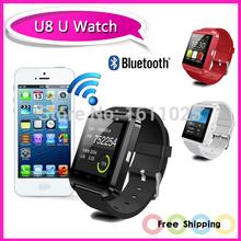 Smart Bluetooth Watch MTK WristWatch Watches U8 U Watch for iPhone 4S/5/5S/6 Samsung S4/Note 2 HTC Android Smartphones