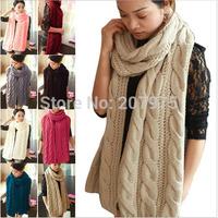 Hot Women's Winter Warm Knited Neck Wool Long Scarf Wrap Shawl Stole Scarves