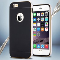 For iphone6 Luxury Metal Brush Case For Apple iPhone 6 4.7 Back Cover Dual Layer Slim Ultra Thin Phone Shell for i6 YXF04914