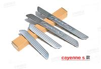 stainless steel inner door sill scuff plate  4PCS   for Porsche Cayenne 2011 2012  2013