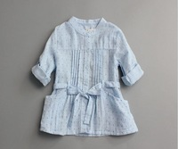 2015 Girls spring dot long sleeve blouses , girls blouses , kids blouse , 5pcs/lot   MWQ04