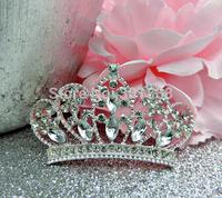 Free shipping,300PCS/LOT Large Rhinestone silver crown Tiara Embellishments Crystal Flatbacks christmas component,QYQ01