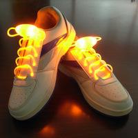 Fashion LED flash shoelace, new luminous shoelaces, shoes with hip-hop ghost step, 80cm long , candy colors 6pcs wholesale