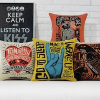 Creative graffiti  Fashion Bar Nordic cotton pillow cover Cushion cover Linen Pillowcases office home decorate sofa cushions