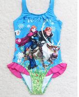 2015 New Arrival Frozen Children Girls Swimwear Kids Swimsuit One Piece Baby Girls Swim suit Beachwear in stock