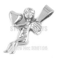 Free shipping! Silver Love Angel Pendant Stainless Steel Jewelry Fashion Gift Pendant Biker Women Pendant SWP0295A
