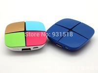 Top quality Power bank 2000mah external battery For iphone Samsung phones charger magic cube make-up box power bank 200pcs/lot