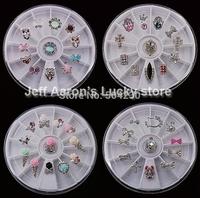 5 Wheels Alloy Nail Art Glitter Rhinestones Wheel Metal Nail Decorations Design Tools Jewelry Accessories Wholesale