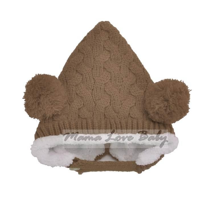 New Hot sales Double Ball Hemp Flowers Wool Baby Hat Baby Cap Infant Cap Hats Skull Caps Toddler Boys Girls Gift SV6 SV006603(China (Mainland))