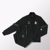 14 15 Real Madrid Champion Black Tracksuit Man Kroos James LS Men Cristiano Ronaldo Futbol UEFA Champions League Training Suit