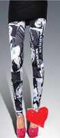 free shipping!2015Elastic Design Vintage graffiti Leggings womans leggings adventure time leggings