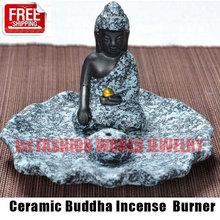 Ceramic Buddha Incense Burner Aromatherapy Incense Holder for Incense Stick,Incense Cone,Buddha Craft Home Decor Free Shipping(China (Mainland))