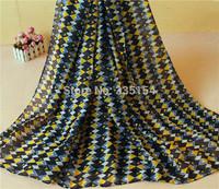 2015 Women Geometry Pattern Scarf Geo Printed Scarf Fashion Cotton Voile Scarf 5PCS/lot FREE SHIPPING