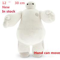 Hot Sale.High Quality 30cm 11.5inch Big Hero 6 Baymax Stuffed Plush Robot Doll Large Ultra Soft Baby Classic Toys Free Shipping
