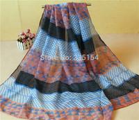 2015 Women Triangle Pattern Scarf Geometry Pattern Scarf Fashion Cotton Voile Scarf 5PCS/lot FREE SHIPPING