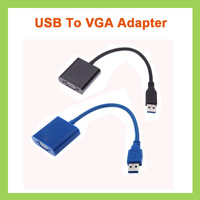 20pcs/lot HD 1920*1080 USB 3.0 to VGA Video Graphic Card Muilt-display External Cable Adapter for laptop pc windows 7/8