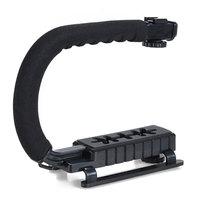 U Shape Video & DSLR Camera Handle Holder C Shape DV DSLR Camera Camcorder Video Handle Stabilizer  Grip flash Bracket Holder