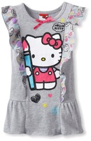 HOT SALE 2015 girls clothing cotton dress HELLO KITTY dress fashion cute with bow dress Free shipping