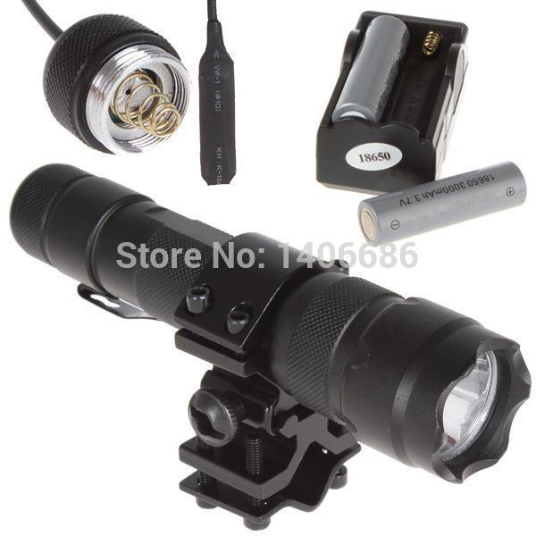 CREE XML T6 1000 lumen LED Flashlight Torch Bicycle Flash Light Bike Lamp + Battety + Charger + Remote Pressure Switch + Holder(China (Mainland))