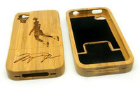 New Real Jordan Signature Wood Bamboo Hard Cover Case for apple iphone 4 4S 4G