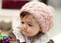 Hot Selling SKids Girls Baby Handmade Hat Crochet Knitting Beret Hats Caps Cute Winter Beanie Free&Drop Shipping