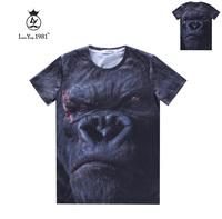 [Magic] 2015 newest casual tshirt KINGKONG 3d t shirt men short sleeve cotton t-shirt LY242 size M-XXL free shipping