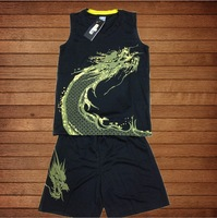 New children's sports suit boy basketball suit Uniforms kids basketball game jersey training suits custom DIY printed numbers