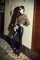 Fashion Leopard Printed roupas femininas Chiffon Shirts Women Sexy Blouse See-through Tops Shirt plus size blusas femininas 2015