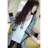 Irregular Black White Stripes Long Sweaters Dear-Lover  LC27554