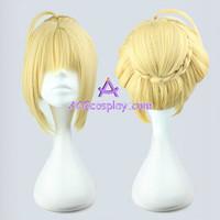 Fate zero Saber Alto Leah Buns version cosplay wig light blonde light yellow