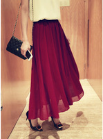 Korea fashion Pleated Chiffon Skirt FAIRY slim