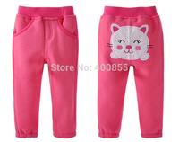 SZWY1412163 DANROL autumn new cartoon children cotton fleece fabric PP pants,kids trousers