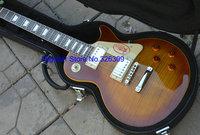 new style standard guitar China vintage sunburst binding body electric guitars