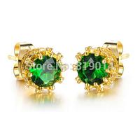 valentine's Day jewelry wholesale earrings Korean exquisite18K Gold plated ladies stud earrings