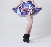 European Design Punk 2014 New Women CARTOON Skater Skirts Saias Female Pleated Skirt for Women S119-250