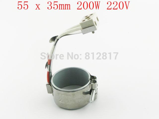 "Plastic Injection Machine Part Band Heater 55 x 35mm 200W 220V 2 1/6"" x 1 3/8"" Customized!!!(China (Mainland))"
