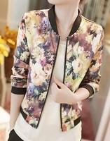 8127# 2014 Hitz Korean jacket all-match broken zipper collar long sleeved jacket women