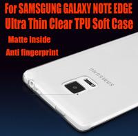 50pc/lot DHL Free Fashion 0.6mm Ultra Thin matte inside Clear TPU Gel Case for SAMSGUNG GALAXY NOTE EDGE NO: NE01