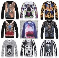 [Magic] 2015 fashion hoodies men 3d sweatshirt Flowers/Character/Animal print casual sweatshirts men hoodie 21models free ship