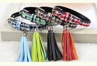 Pet collar 12pc Pet Dog Cat collar Pet Products high quality fashion Tassel grid collar C328-331