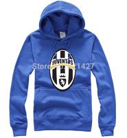 Juventus Football 100% cotton mens hoodies and sweatshirts fans clothing pocket hat man shirt hooded fleece