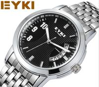 Original Water Resistent EYKI Men's Women's High Luxury  Sports Watch real Calendar Unisex Clock hour Free shipping